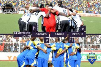 TP Mazembe en noir et blanc FC Lupopo en jaune et bleu crédit photo:tpmazembe.com