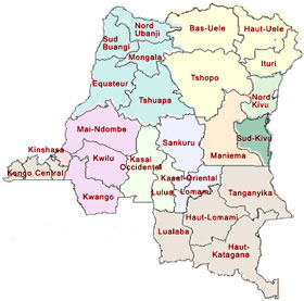les 26 provinces de la R.D.Congo digitalcongo.net